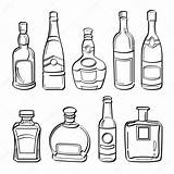 Bottle Alcohol Bottles Illustration Drawing Whiskey Collection Sketch Vector Getdrawings sketch template