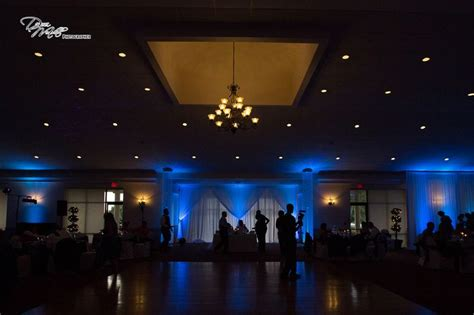 Our Up Lighting Backdrop & Crystal Towers At Tanner Hall