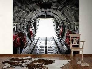 Selbstklebende Tapete 3d : 3d fototapete jet ausstieg vom laderaum fototapete ~ A.2002-acura-tl-radio.info Haus und Dekorationen