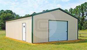 24x36 detached metal garage 2 car garage price With 24x36 metal garage