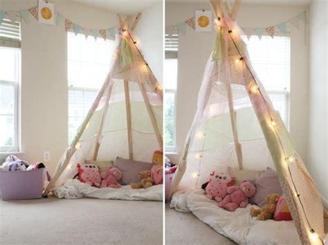 tuto deco chambre fille comment fabriquer un tipi 60 idées pour une tente