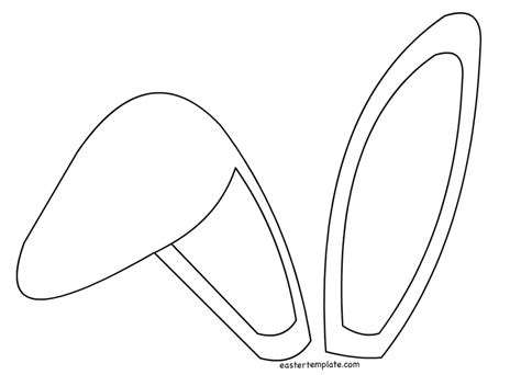 Template For Ears by Bunny Clipart Template Pencil And In Color Bunny Clipart
