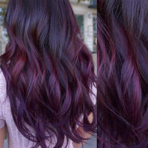 maroon hair color ideas   dark black