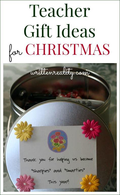 teacher gift ideas for christmas written reality