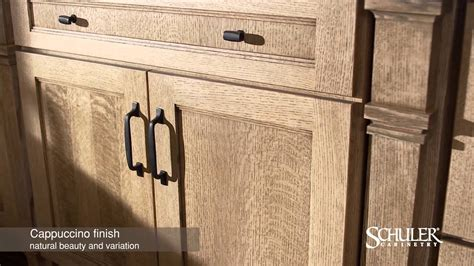 schuler cabinetry cappuccino finish youtube
