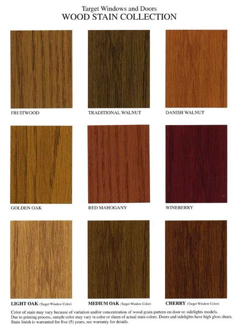 wood grain comparison standard stain finishes entry doors target windows and doors