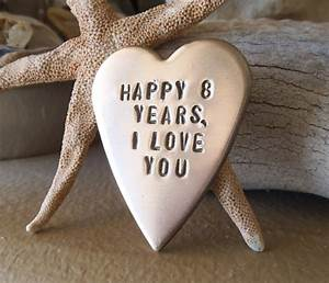 bronze gift for him eighth anniversary 8th bronze With 8th wedding anniversary gifts for him