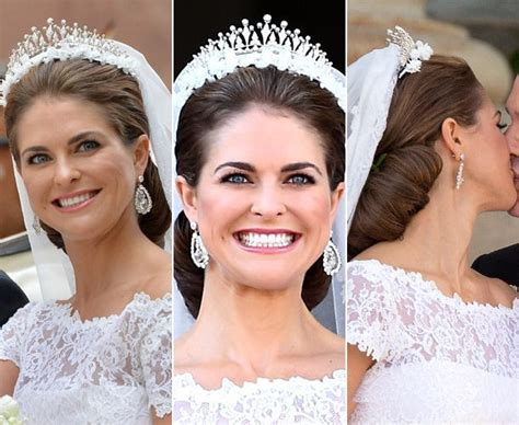 The Low Bun Was Held In Place By Her Royal Tiara, Which