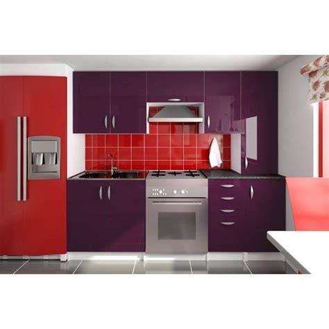 cuisine complete discount cuisine complète 220 cm oxane aubergine laqué achat