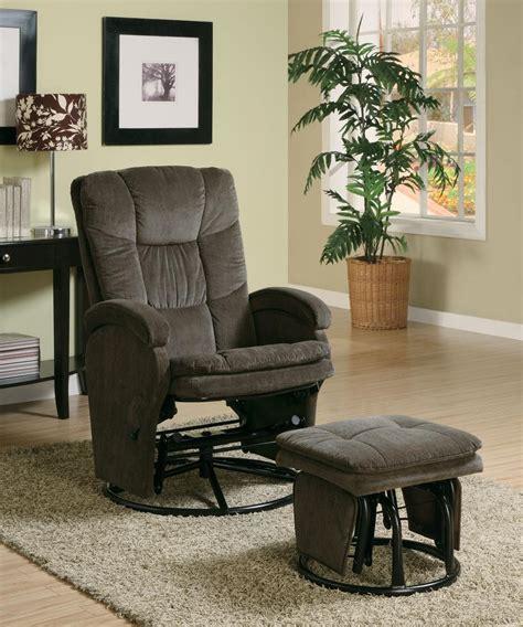 rocker glider recliner with ottoman chocolate deluxe glider rocker recliner ottoman 600159