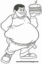 Fat Albert Coloring Pages Clipart Drawing Cosby Clipground Holding 2006 Version Bright Pen sketch template
