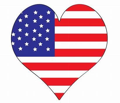 Clipart Flag Clip American Labor Heart Flags