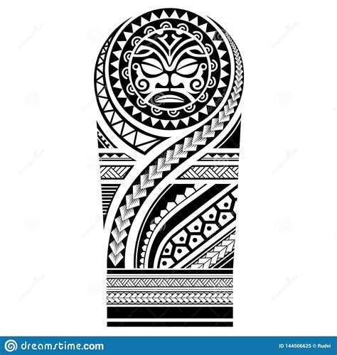 polynesian tattoo sleeve shoulder sketch pattern samoan
