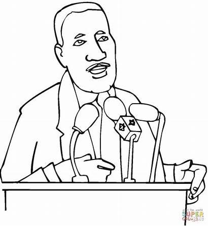 Luther Martin King Coloring Colorear Jr Dibujo