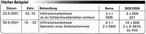Abrechnung Privatpatienten Goä : abrechnung nach bema und goz operative eingriffe eine gegen berstellung teil 2 ~ Themetempest.com Abrechnung