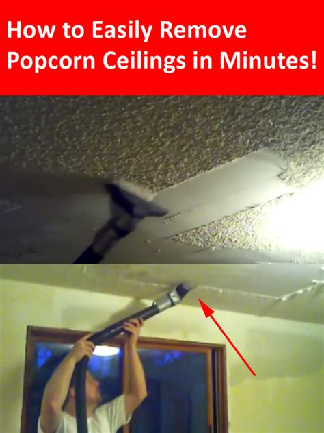 remove popcorn ceilings     minutes