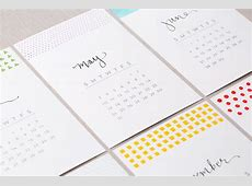 It's Not Too Late to Make Our DIY Calligraphy Calendar