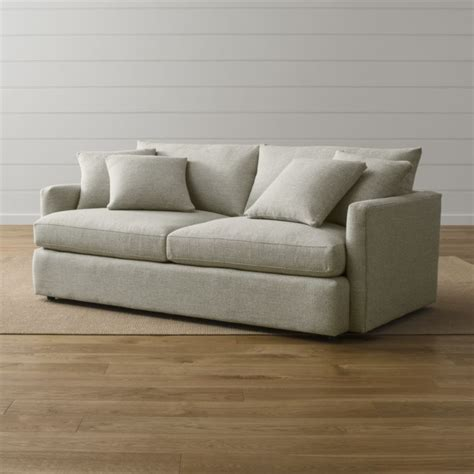crate and barrel couches lounge ii 83 quot sofa taft cement crate and barrel