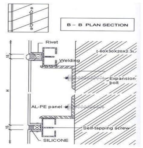 ideabond aluminium composite panel installation   section simans  pinterest cladding
