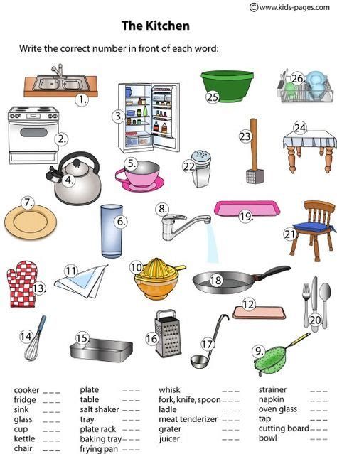 lots  worksheets  common objects categories colors