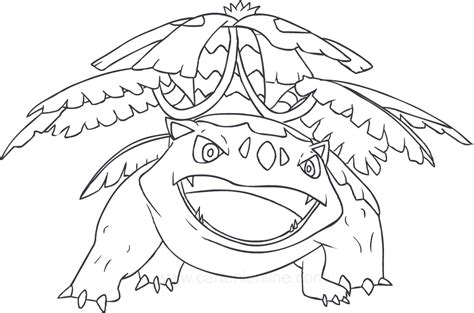 Drawing Venusaur Of The Pokemon Coloring Page