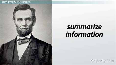 bio poem definition examples format
