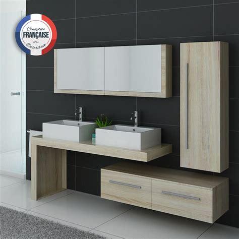 Meuble De Salle De Bain 2 Vasques Design Dis9350sc, Meuble