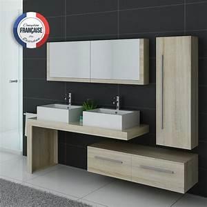 Meuble Vasque Double : meuble de salle de bain 2 vasques design dis9350sc meuble deux vasques de salle de bain ~ Teatrodelosmanantiales.com Idées de Décoration
