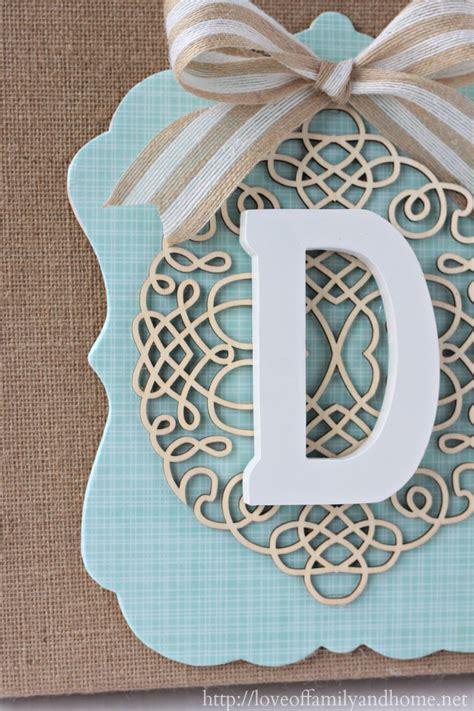 diy burlap monogram michaels hometalk  store pinterest event love  family home