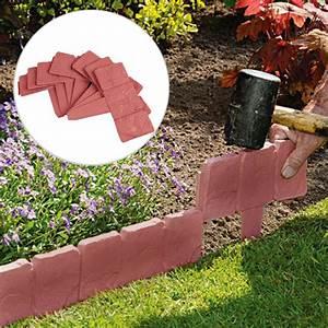 Garden, Edging, Border, 10, 20, 50pcs, Decorative, Flower, Bed, Edging, For, Fence, Landscaping, Plastic