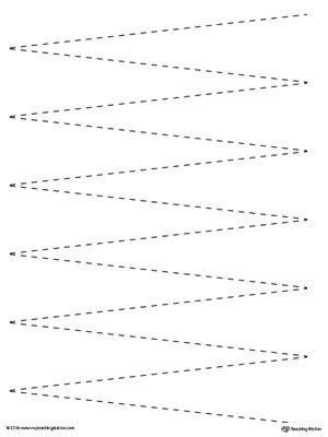 tracing zig zag myteachingstationcom