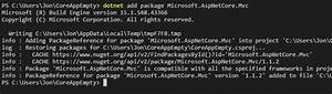 Add Mvc To Your Asp Net 1 1 Application Using The Dotnet