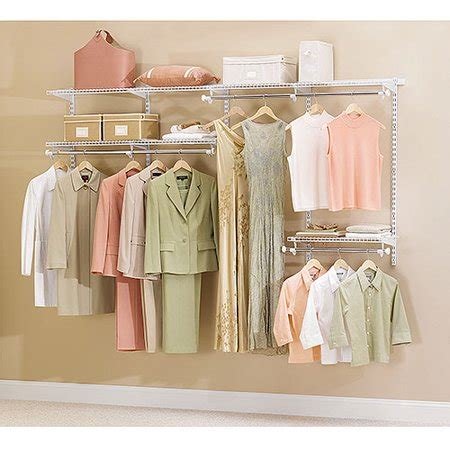 Rubbermaid Closet by Rubbermaid Configurations Closet Kits 4 8 Ft White