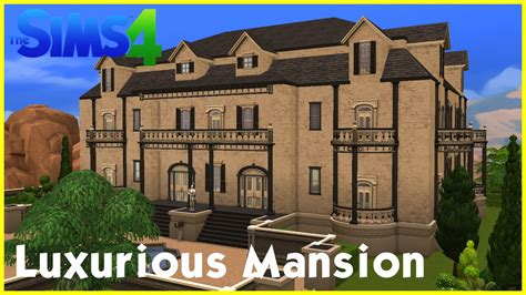 decorative sims luxury homes sims 4 speedbuild luxurious mansion