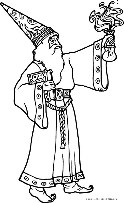 wizward witch  magic color page coloring pages