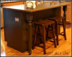 building a kitchen island with cabinets kitchen island redo sweet silly chic