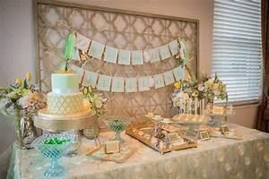 Elegant Mint and Gold Baptism Party - The Celebration Society