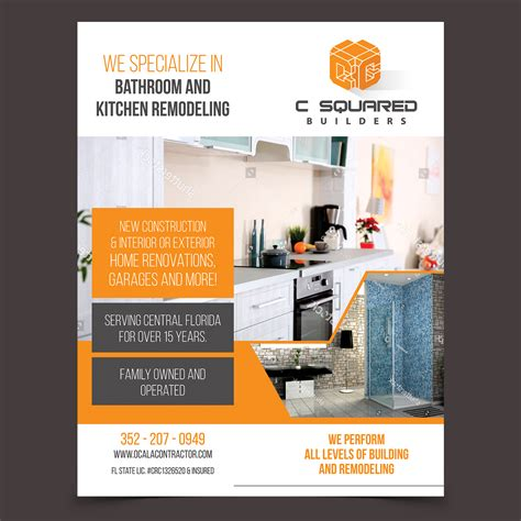bold  residential construction flyer design