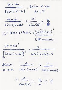 Lim Berechnen : grenzwert berechnen sie folgende grenzwerte lim x a sin x a f r x gegen a mathelounge ~ Themetempest.com Abrechnung