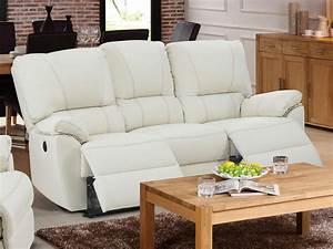 Relaxsofa 3 Sitzer : relaxsofa 3 sitzer leder elektrisch marcis elfenbein g nstig ~ Watch28wear.com Haus und Dekorationen