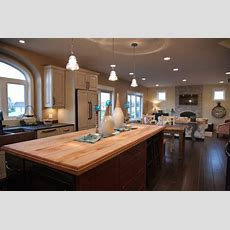 13 Trendy Open Concept Kitchen, Dining Room And Living Room