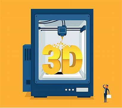 Printing 3d Vector Illustrations Clip Graphics Royalty