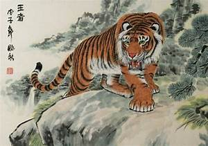 The King - Chinese Tiger Painting - Tigers & Dragons ...