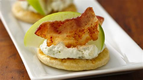 canape cups recipes candied bacon and apple canapés recipe tablespoon com