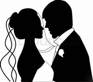 Dessin Couple Mariage Noir Et Blanc : abstrakt scherenschnitt wei vektorgrafik colourbox ~ Melissatoandfro.com Idées de Décoration