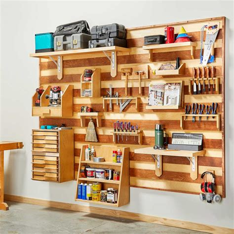 build  french cleat tool storage wall family