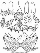 Puppet Coloring Fairy Paper Crafts Pages Elf Puppets Pheemcfaddell Feather Cut Halloween Dolls Printable Template Outs Fern Toys Fairys Fairies sketch template