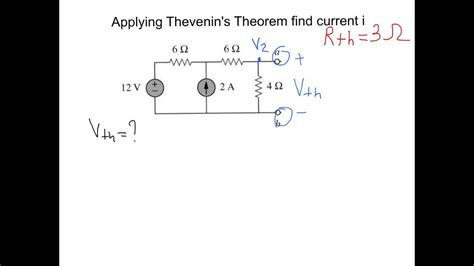 Thevenin Theorem Example With Solution Youtube
