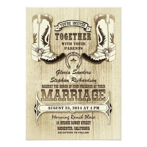 cowboy shoes western wedding invitations zazzlecom