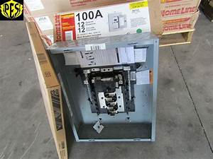 New Square D Hom12m100c 100 Amp 12 Ckt Main Breaker Indoor